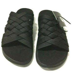 Malibu Sandals Zuma Nylon Sueded Footbed Womens 9